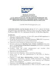 Sample Resume With Sap Experience Best of Sap Basis Resume Format Resume Ideas