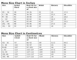 leather jacket size chart size guidelines charlie london leather jackets for men and women