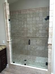 tile around shower 3 8 clear tempered heavy glass shower door tile notch on inline pane
