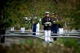 u s department of defense photo essay a u s marine holds a wreath at the pentagon 9 11 observance ceremony sept