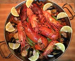 Recipe* Seafood Paella with Lobster ...