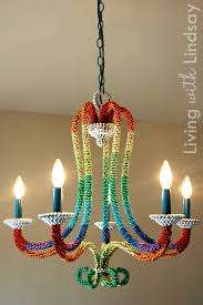 brass chandelier to white beaded chandelierfrom crafty nest