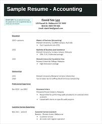 Accounting Student Resume Accounting Student Resume Sample