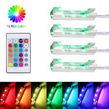 Led Rgb Glass Edge Lighting Clips Us 15 88 35 Off Set Of 4 Leds Glass Edges Light Clip 16 Colors 4 Lighting Modes Rgb Under Cabinet Floor Lighting For Furniture Display Case On