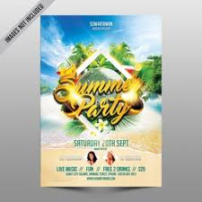 Beach Flyer Beach Party Vectors Photos And Psd Files Free Download