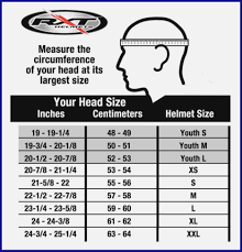 Full Face Helmet Online Charts Collection