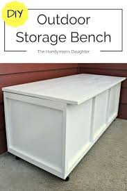 this outdoor storage bench serves as seating and storage on our small front patio make