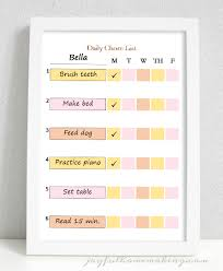 Free Printable Chore Chart For 4 Year Old Free Printable Chore Charts Joyful Homemaking