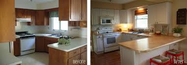 Cheap Kitchen Counter Makeover Inexpensive Kitchen Renovations Before And After Before And After
