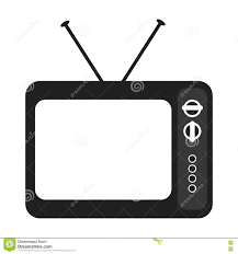 tv clipart black and white. royalty-free vector. download black and white old tv clipart
