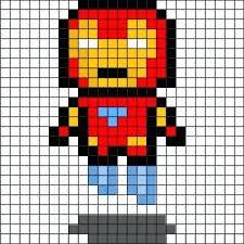 Drawn Pixel Art Template Hard 3 Minecraft Grid Templates