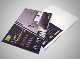 Grand Opening Postcards Hotel Grand Opening Postcard Template Mycreativeshop