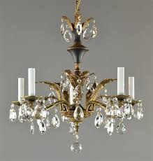 antique bronze crystal chandelier french empire