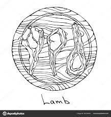 粗子羊のリブは丸い木製のまな板にみじん切り精肉店のステーキ