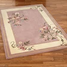 fl bouquet rectangle rug dusty mauve