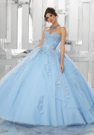 Light Blue Quince Dress A Line Strapless Quinceanera Dress By Mori Lee Valencia