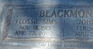 Flossie Bell Sims Blackmon (1914-2001) - Find A Grave Memorial