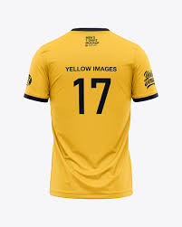 This apparel mockup provides front and back views of. Men S Crew Neck T Shirt Mockup Back View In Apparel Mockups On Yellow Images Object Mockups