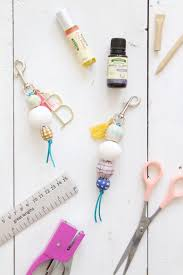 diy scented wooden bead keychains via lindseycrafterblog com