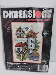 Dimensions Cross Stitch Kit Birdhouse Welcome 6682 Bird House 5x7