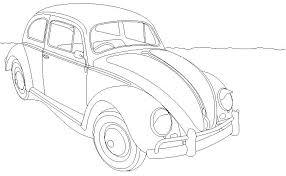 Kleurplaat Auto Herbie Naaldwerk Cars Adult Coloring Color