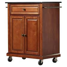 granite top kitchen cart cherry kitchen cart with black granite top