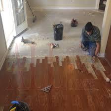 bruce turlington engineered hardwood flooring stock in the middle of installation
