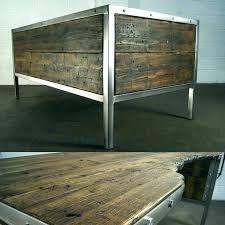 steel office desks. Vintage Metal Office Desk. Desks Steel Handmade Industrial Polished Desk Rustic Old .