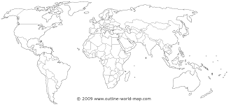 download blank world map  major tourist attractions maps