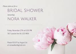 Bridal Shower Template Stunning Bridal Shower Invitation Templates Venngage