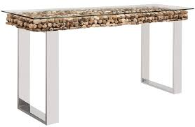 console tables osimo driftwood top with glass mh2g com in table decorations 19