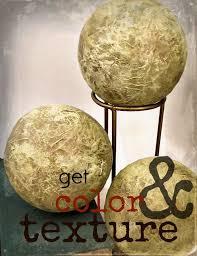 Decorative Sphere Balls Green and Gold Handmade Papier Mache Accent Balls Set of Three 56