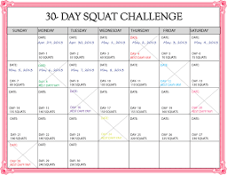 printable 30 day challenges