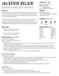 Landscape Architecture Resume By Kevin Belair Issuu