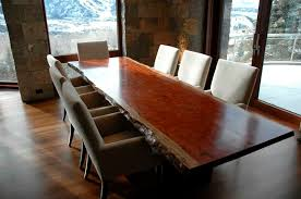 dining furniture solid wood. rustic house interior stone wall solid wood dining table furniture