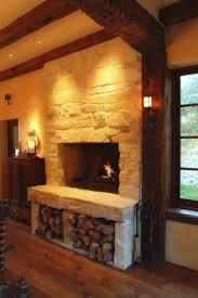 Wood Storage Below Fireplace.