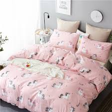 <b>Unicorn</b> Bedding Set <b>Cartoon 3pcs</b> Rainbow Bedspreads Cover ...