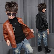 new baby boy leather jacket boys coat black and brown color children jackets manteau garcon kids jacket 6ct107 best winter jacket for kids quilted jacket