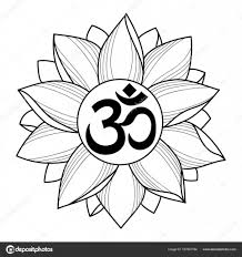 Om и Lotus татуировки векторное изображение Kronalux 157851784