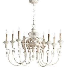 quorum international nto persian white 24 inch eight light chandelier