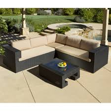 outdoor sectional costco. Costco Com Patio Furniture Beautiful Outdoor Sectional Sofa With Brown Cushion And Black V