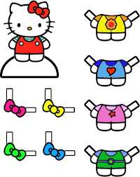 60 hello kitty printable coloring pages for kids. Hello Kitty Dress Up Coloring Pages