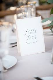 Invitations More Photos Simple Calligraphy Table Number