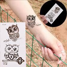 Details About Temporary Tattoo Removable Waterproof Owl Body Arm Leg Sticker Men Women Ok