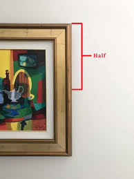 measure the artwork s height and divide by 2 to find the artwork s center  on wall art hanging height with 3 simple rules for hanging art
