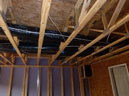 Duct penetrate garage ceiling