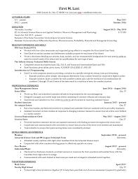 Resume Critique For Internships Actuary