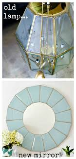 repurposed lighting fixtures. Old Lamp Or Hanging Light Fixture.turn It Into A Fab Mirror Repurposed Lighting Fixtures