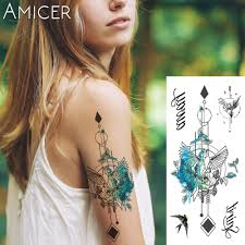 Us 069 30 Off1 Piece Fantasy Color Freedom Bird Phoenix Hot Large Animal Temporary Tattoo Waterproof Tattoo Sticker For Women Men In Temporary