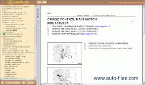 lexus parts manual lexus rx 350 rx 330 rx 300 repair manuals wiring